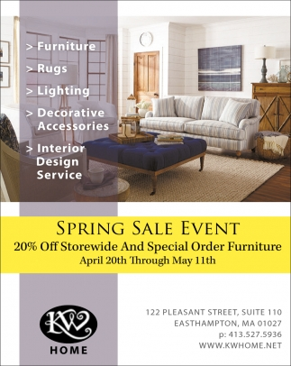 Spring Sale Event Kw Home