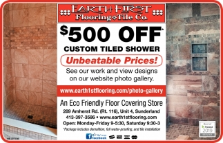 $500 OFF Custom Tiled Shower