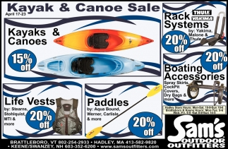 Kayak & Canoe Sale