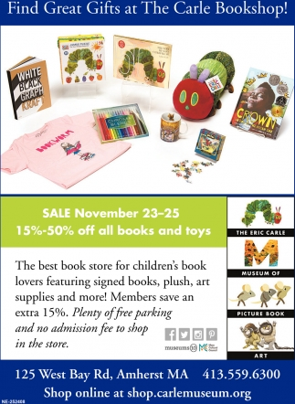 Find Great Gift at the Carle Bookshop
