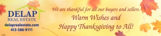 Warm Wishes and Happy Thanksgiving to All!