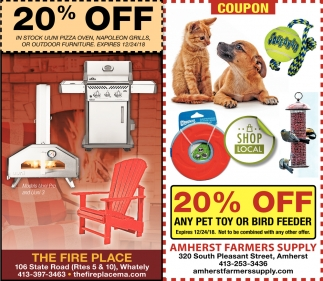 20% OFF Any Pet Toy or Bird Feeder