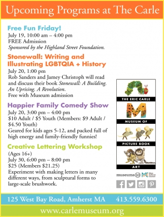 Upcoming Programs at The Carle