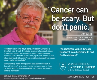 Cancer Can be Scary  But don't Panic, Mass General Cancer