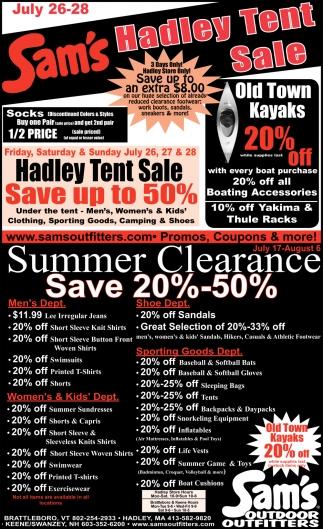 Hadley Tent Sale