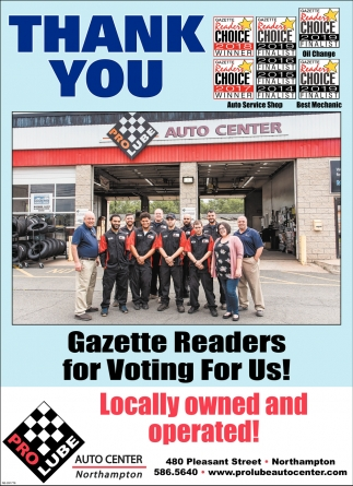 Thank You Gazette Readers for Voting for Us