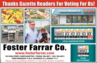 Thanks Gazette Readers for Voting for Us