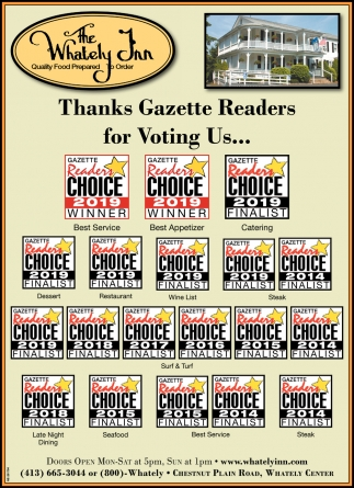 Thanks Gazette Readers for Voting Us