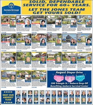 Let the Jones Team Get Yours Sold!