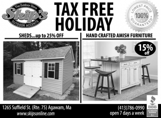 Tax Free Holiday