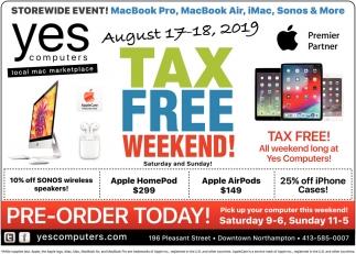 Tax Free Weekend