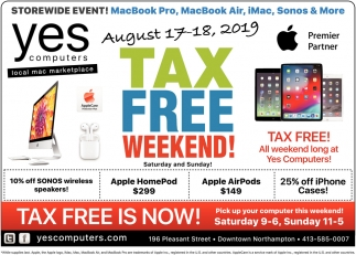 Tax Free Weekend