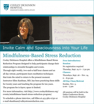 Mindfullness-Based Stress Reduction