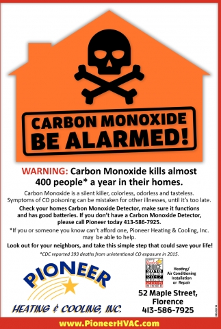 Carbon Monoxide Be Alarmed!