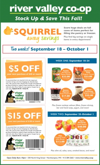 Stock Up & Save this Fall