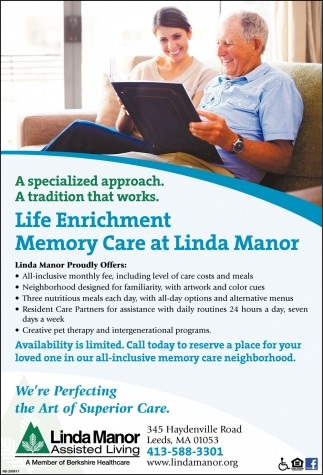 Live an All-Inclusive Life at Linda Manor