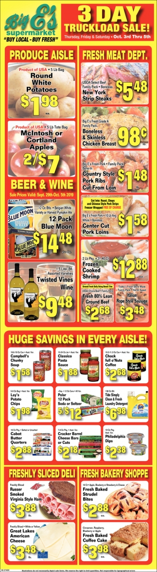 3 Day Truckload Sale