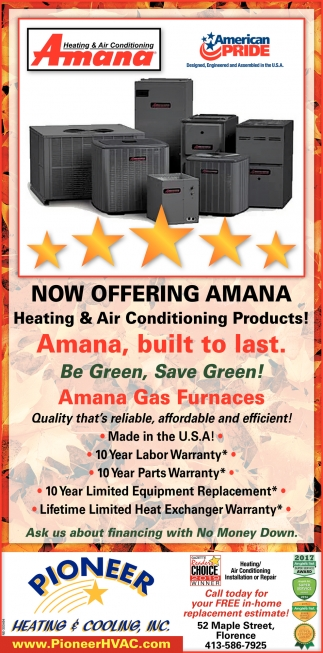 Now Offering Amana