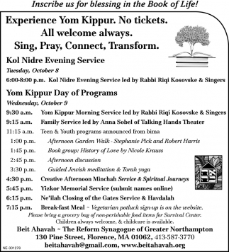 Experience Your Kippur