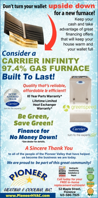 Consider a Carrier Infinity 97.4% Gas Furnace