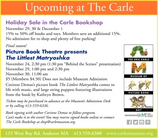 Upcoming at The Carle