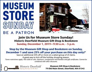 Museum Store Sunday