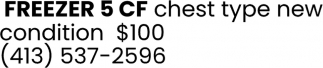 Freezer 5 CF