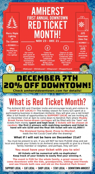 First Annual Downtown Red Ticket Month!