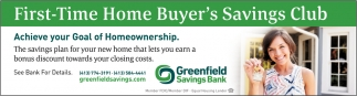 First-Time Home Buyer's Savings Club