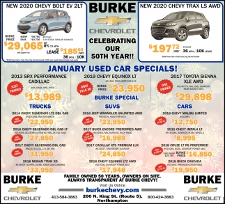 January Used Car Specials