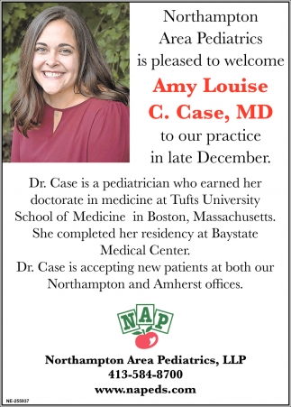 Welcome Amy Louise C. Case, MD