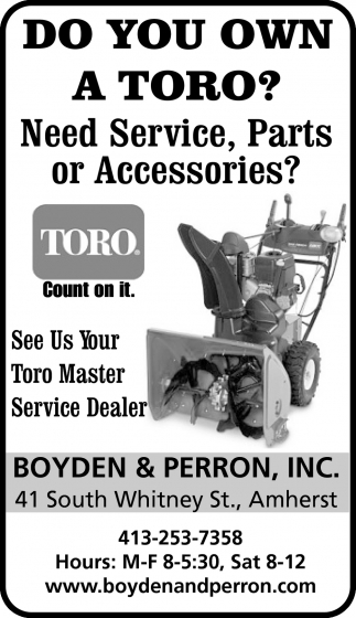 Do You Own a Toro?