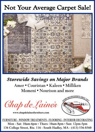 Now Your Average Carpet Sale!