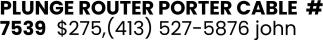 Rourter Porter Cable