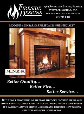 Modern Linear Gas Firelaces Fireside Designs West Springfield Ma
