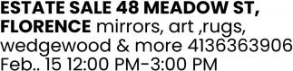 Estate Sale 48 Meadow St