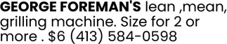Goerge Foreman's Lean