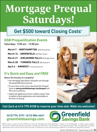 Mortgage Prequal Saturdays
