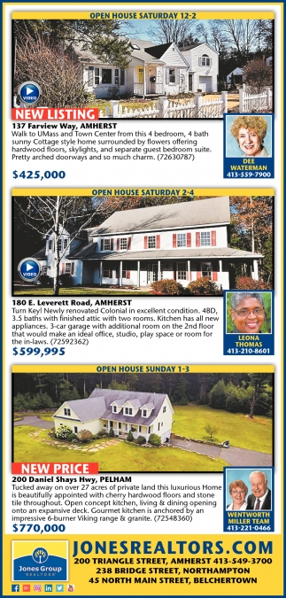 Open Houses Saturday