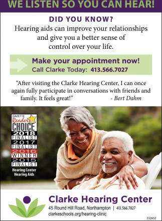 We Listen so You can Hear!