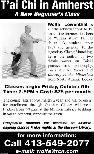 T'ai Chi in Amherst
