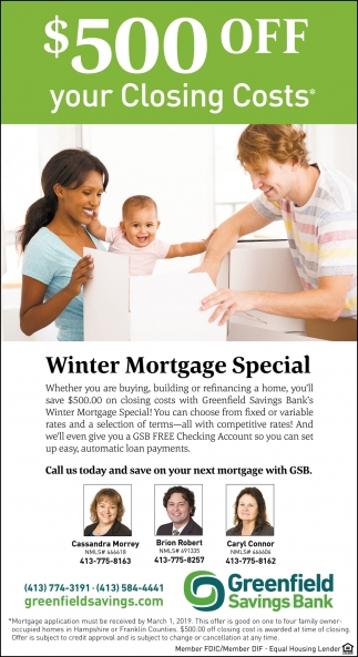 $500 OFF Your Closing Costs