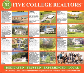 Price Change, Five College Realtors, Northampton, MA