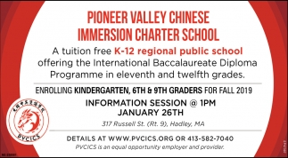 Tuition Free K-12 Regional Public School