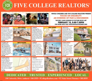 New Listing, Five College Realtors, Northampton, MA