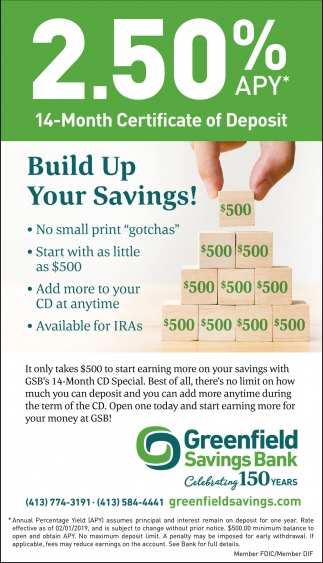 Build Up Your Savings!