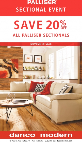 Save 20% OFF All Palliser Sectionals