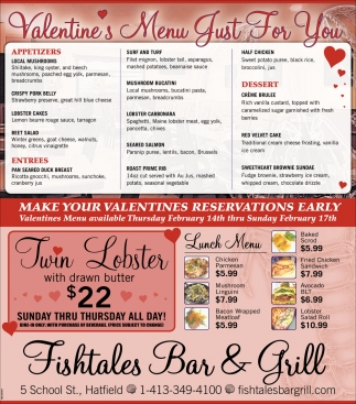 Valentine's Menu Just for You