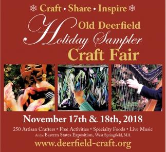 Old Deerfield Holiday Sampler Craft Fair