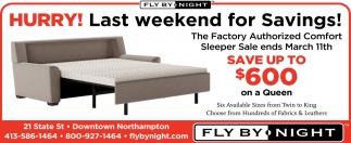Hurry! Last Weekend for Savings!